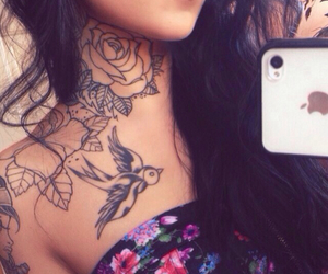 tattoo, girl, and iphone image