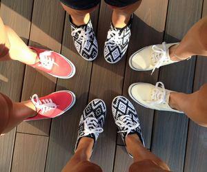 shoes, vans, and friends image