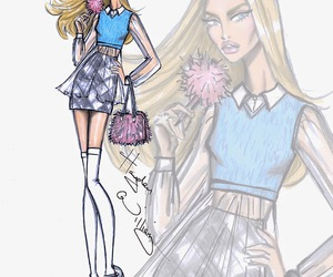 art, Clueless, and fashion sketch image