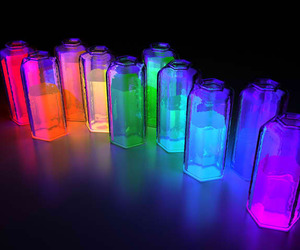 colors, light, and neon image