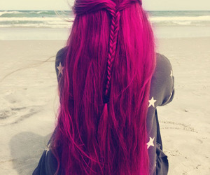 hair, beach, and braid image