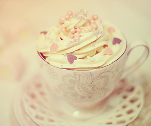 cream, cup, and hearts image