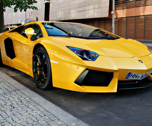 car, yellow, and luxury image