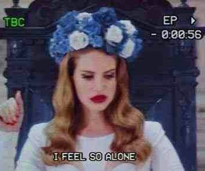 lana del rey, alone, and born to die image