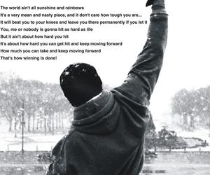inspiration, quote, and rocky image