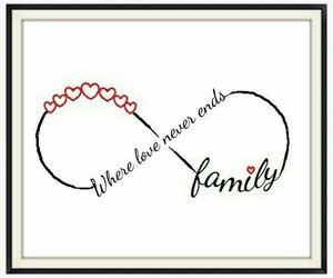 family, heart, and infinity image