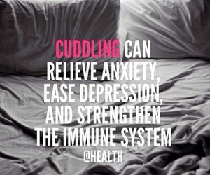 anxiety, cuddling, and health image