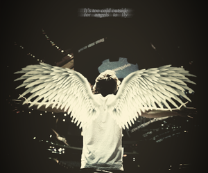 Harry Styles, one direction, and angel image