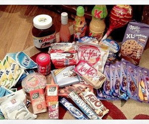food, milky way, and sweets image