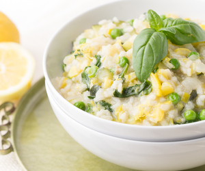 risotto, vegetables, and rice image