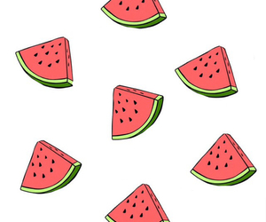 pink, seeds, and watermelons image