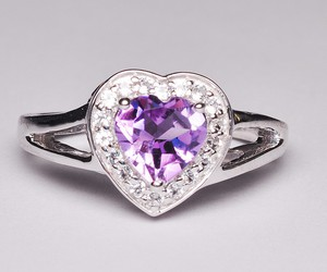 silver jewelry, amethyst ring, and amethyst engagement rings image