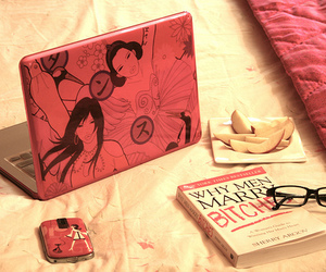 book, apple, and notebook image
