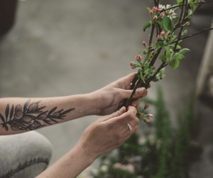 ink, tattoo, and forearm image