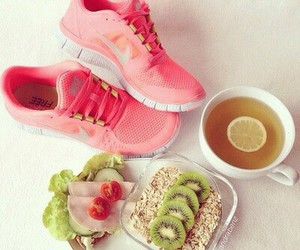 breakfast, nike, and shoes image