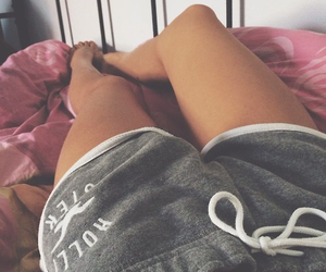 bed, fitness, and girl image