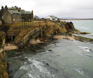 ocean, house, and sea image