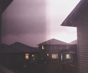 Houses, storm, and grunge image