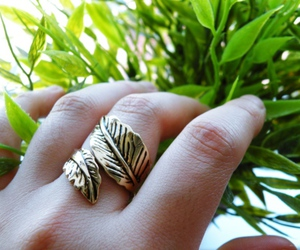 fashion, leaf, and ring image
