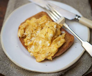 bread, egg, and food image