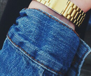 casio, gold, and jeans image