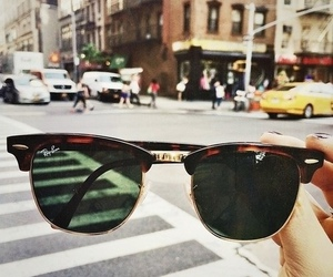 city and sunglasses image