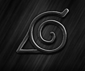 naruto, naruto shippuden, and konoha logo image