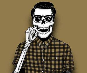 photo, hipters, and skull image