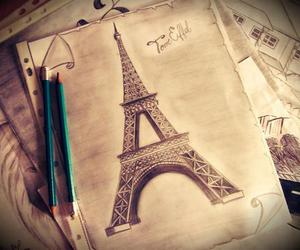 art, photo, and torre eiffel image