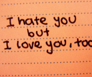 love, hate, and text image