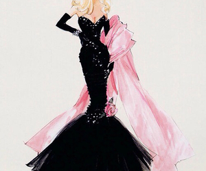 drawing, fashion, and pink image