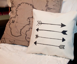 pillow, arrow, and cute image
