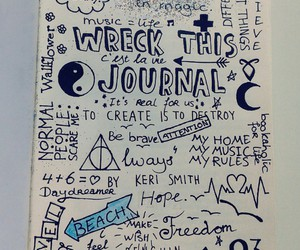 doodle, wreck this journal, and drawings image