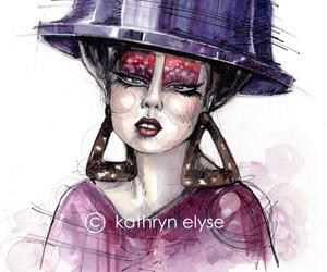 fashion drawing, fashion illustrator, and fashion illustration image