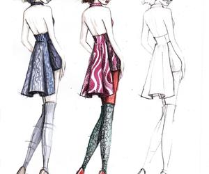 fashion, fashion drawing, and fashion illustration image
