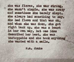 quote, r.m. drake, and fierce image
