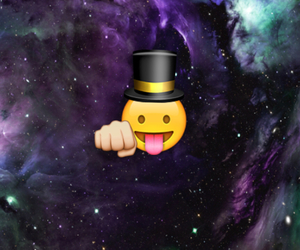 cool, space, and emoji image