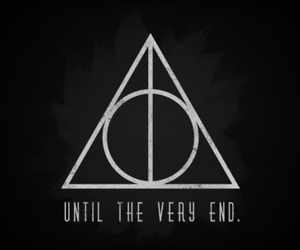cloak, deathly hallows, and stone image