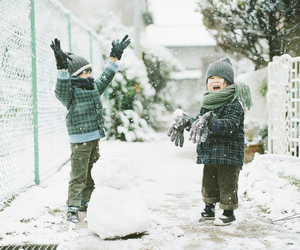 snow, winter, and kids image