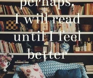 books, happy, and feeling sad image