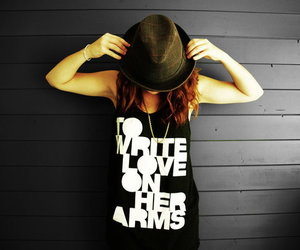 girl, fashion, and to write love on her arms image