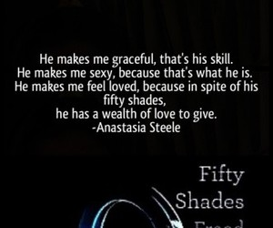 christian grey, fifty shades of grey, and anastasia steele image