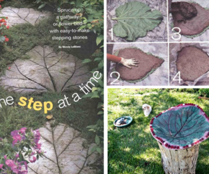 diy, gardening, and stepping stones image