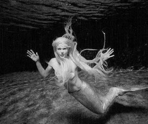 mermaid, blonde, and sea image