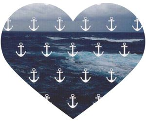 heart, sea, and anchor image