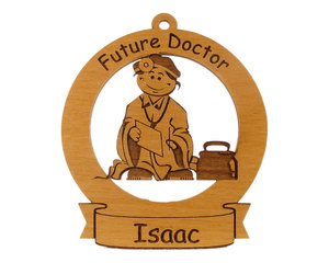 medical student gift, wooden ornament, and with childs name image