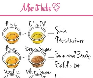 diy, face, and honey image