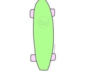 green, pink, and skateboard image