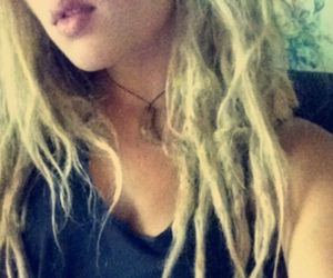 colored hair, dreads, and girl image