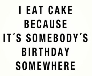 birthday, eat, and cake image